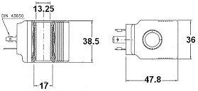 31400 T36 Italian coil dimensions