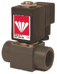 12 Volt Solenoid Valves - 12vdc Plastic solenoid valves for aggressive media
