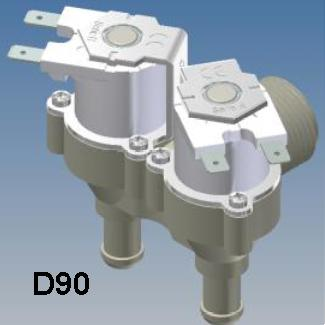 D90 RPE 12 volt Appliance Water Solenoid Valve