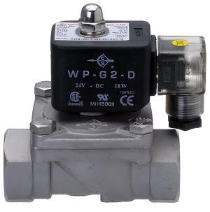 Latching stainless steel solenoid valves