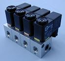 Series Aluminium PU320 1/8 + 1/4 BSP 3/2 normally closed + N/Open optional Manifold